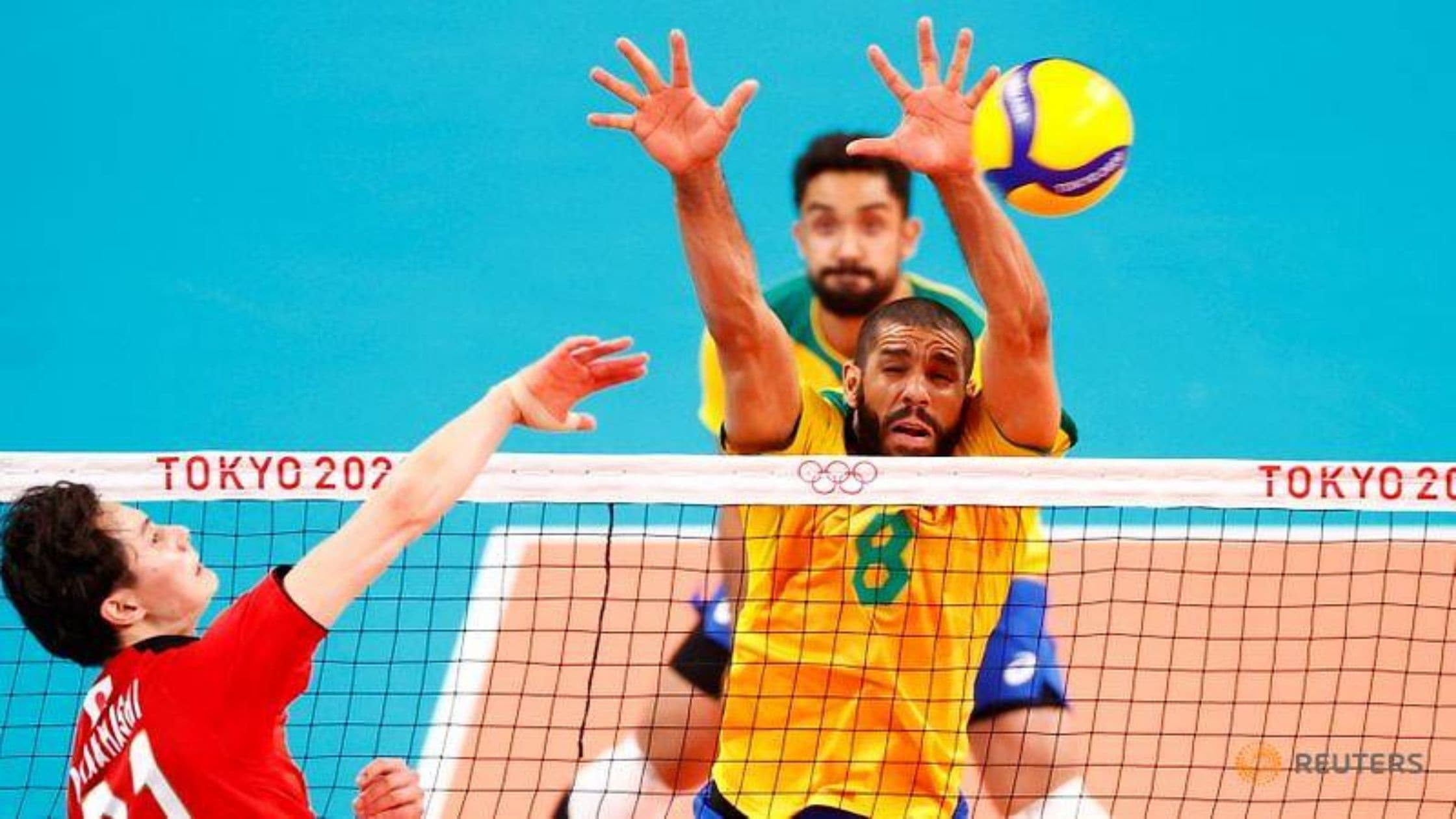 Olympics Volleyball Brazil overpowers hosts Japan to face ROC in semi-finals
